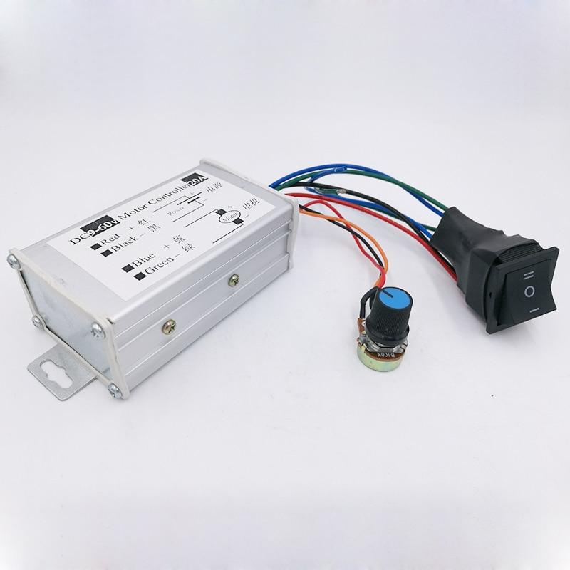 Ebowan Dc 9v 12v 24v 36v 48v 60v 20a 1200w Pwm Motor Controller Motor Speed Regulator Switch Moderate Price Home Improvement