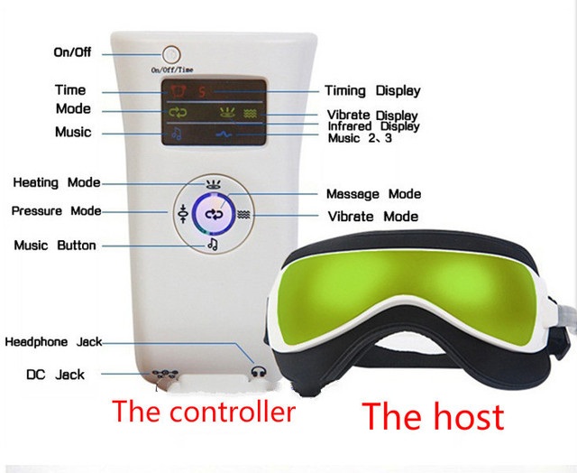 Hot Sale Vibration Air pressure Dispel Eye Bags Infrared Heater Eye Massager Massage glasses Built-In With Music