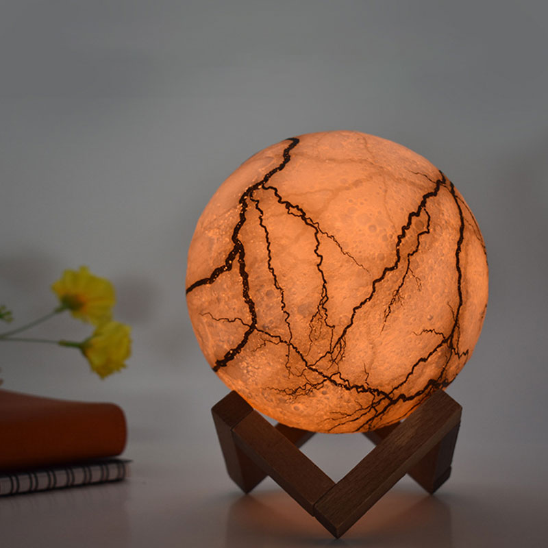 Cracked Mystical Moon Lamp