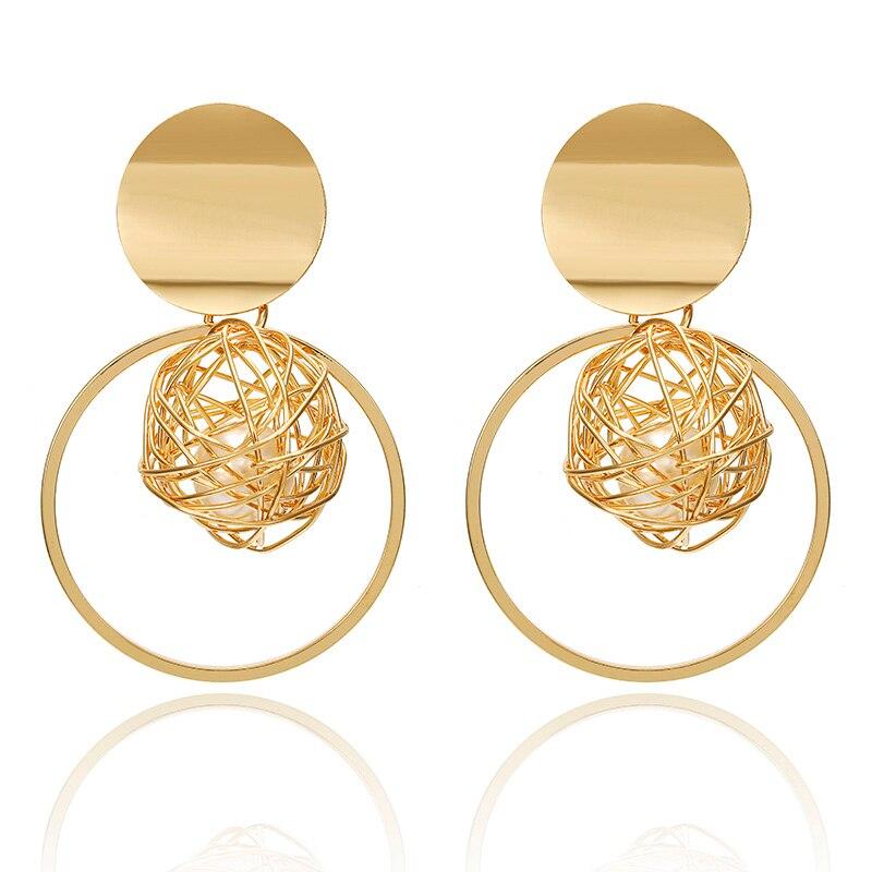 19 Big Geometric Earrings Fashion Statement earrings For Women Hanging Dangle Earrings Drop Earrings modern Jewelry 571 12