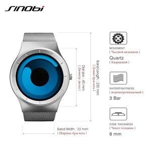 Image 4 - SINOBI ยี่ห้อ Creative กีฬานาฬิกาควอตซ์ผู้ชายสแตนเลสสตีลเวลานาฬิกาหมุนนาฬิกา Relogio Masculino