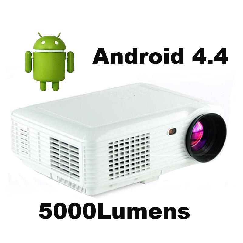 Prix pour 5000 lumens Android 4.4 Bluetooth Smart WIFI 1080 P portable mini LED numérique HD TV home vidéo USB Projecteur proyector beamer
