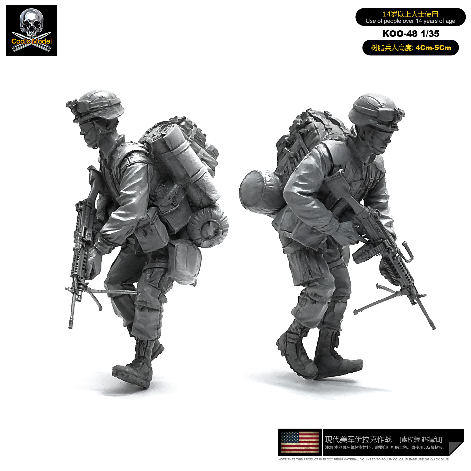 1/35 Model Kits American Army <font><b>Resin</b></font> Soldier Unmounted Koo-48 image