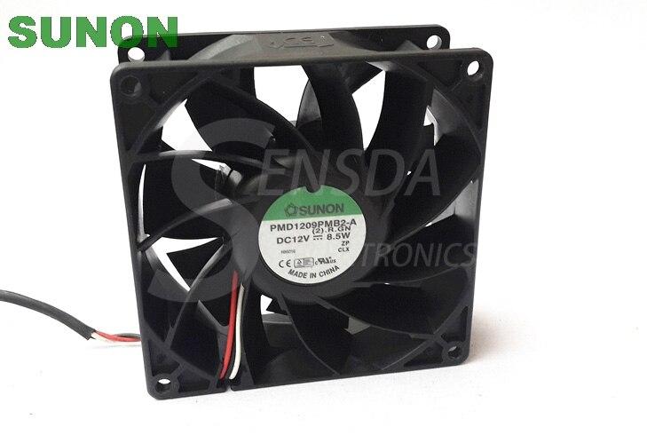 где купить Original SUNON 9038 PMD1209PMB2-A 90mm 9cm DC 12V 8.5W server inverter industrial Cooling Fans по лучшей цене