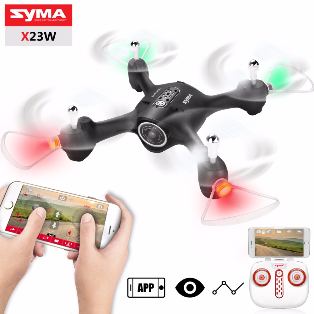 Newest SYMA X23W RC Drone Airplane With Wifi Camera FPV Transit Headless Mode Aircraft Quadcopter Drones Toys For Boys GiftNewest SYMA X23W RC Drone Airplane With Wifi Camera FPV Transit Headless Mode Aircraft Quadcopter Drones Toys For Boys Gift