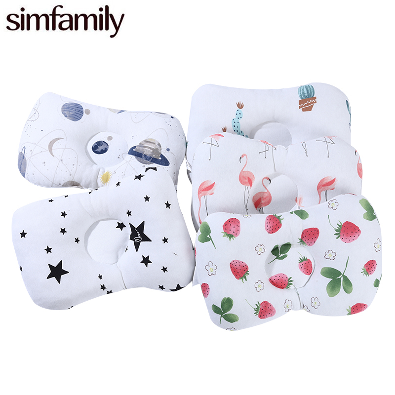 [simfamily] Comfortable Cartoon Infant Support Prevent Anti Roll Baby Pillow Flat Head Neck Infant Cotton Cushion Baby Pillows[simfamily] Comfortable Cartoon Infant Support Prevent Anti Roll Baby Pillow Flat Head Neck Infant Cotton Cushion Baby Pillows