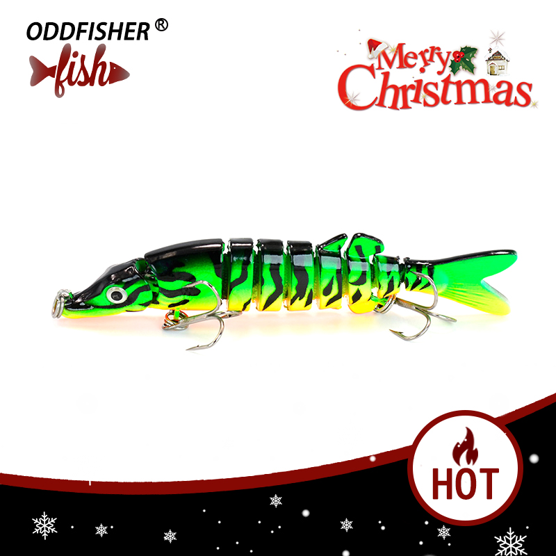 1pcs Fishing Lures Wobblers Quality Swimbait Crankbait 9CM 7G Hard Bait Isca Artificial Fishing Tackle Lifelike Lure 8 Segment