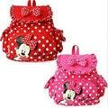 Pequeñas bolsas de Chicas Mochilas lindo Bolso de Escuela de La Historieta de Minnie Mouse Para Niños para Niños mochila infantil niños mochilas escolares