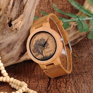 Image 4 - BOBO kuş LP20 erkekler kol saati moda bambu Quartz saat Montre Homme İskelet yusufçuk hayvanlar İzle erkekler