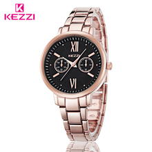KEZZI 2016 TOP NEW Fashion Brand Women Luxury Watch High Quality Stainless Steel Ladies Wristwatch Montre