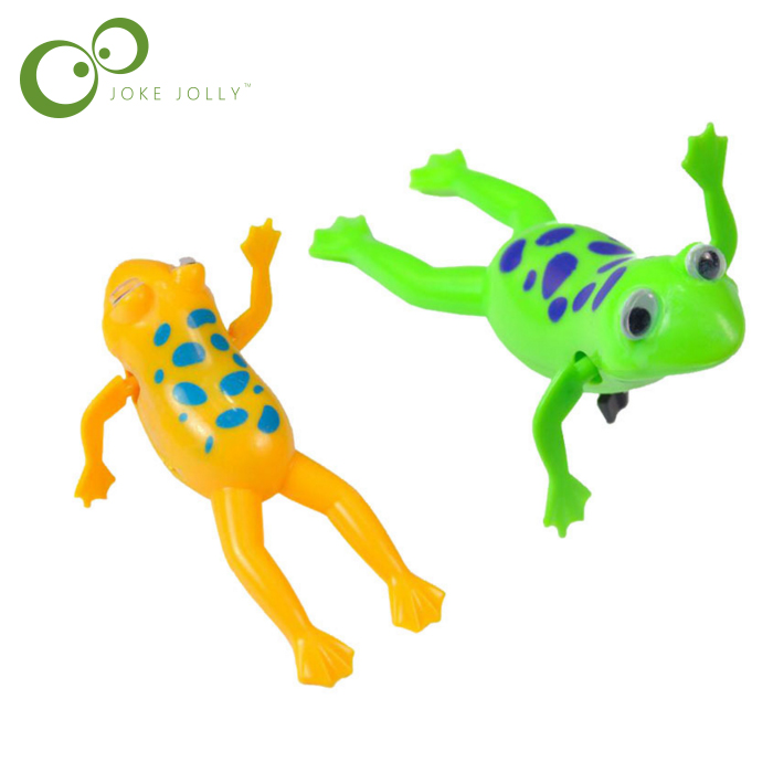 1 Pc Swimming Frog Battery Operated Pool Bath Cute Toy Wind Up Swim Frogs Kids Toy Clockwork
