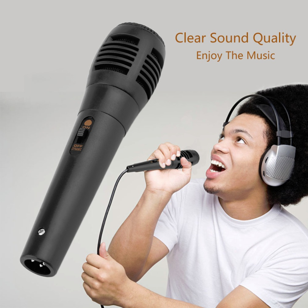 Hot Promotion Universal Wired Uni-directional Handheld Dynamic Microphone Voice Recording Noise Isolation Microphone Black