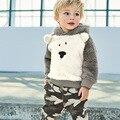 Conjuntos de roupas de inverno crianças agasalho crianças clássico bodysuit do bebê meninos roupas define 2 ps conjunto ternos do bebê das crianças outwear OEM