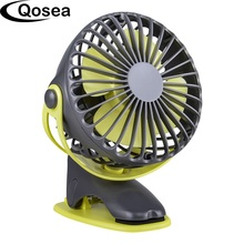 4000mAh Portable Cooling Mini USB Fan 4 Speeds 360 Degree All round Rotation Rechargeable Air Fan USB Charging Desktop Clip Fan