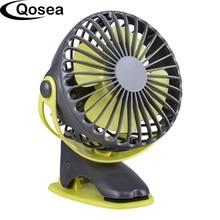 Mini ventilador USB de refrigeración portátil, 4000mAh, 4 velocidades, rotación redonda de 360 grados, ventilador de aire recargable, ventilador de carga de escritorio con Clip