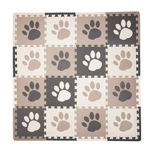 10pcs infant EVA waterproof baby play mat crawling footprints puzzle paw style soft pop out mats rugs flooring