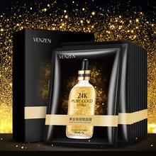 10Pcs VENZEN 24K Gold Hyaluronic Acid facial masks Anti-Aging Moisturizing Oil-control fac
