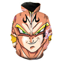Sondirane Newest 3D Cool Cartoon Print Anime Dragon Ball Z Saiyan Hoodies Funny Men Women Pullover