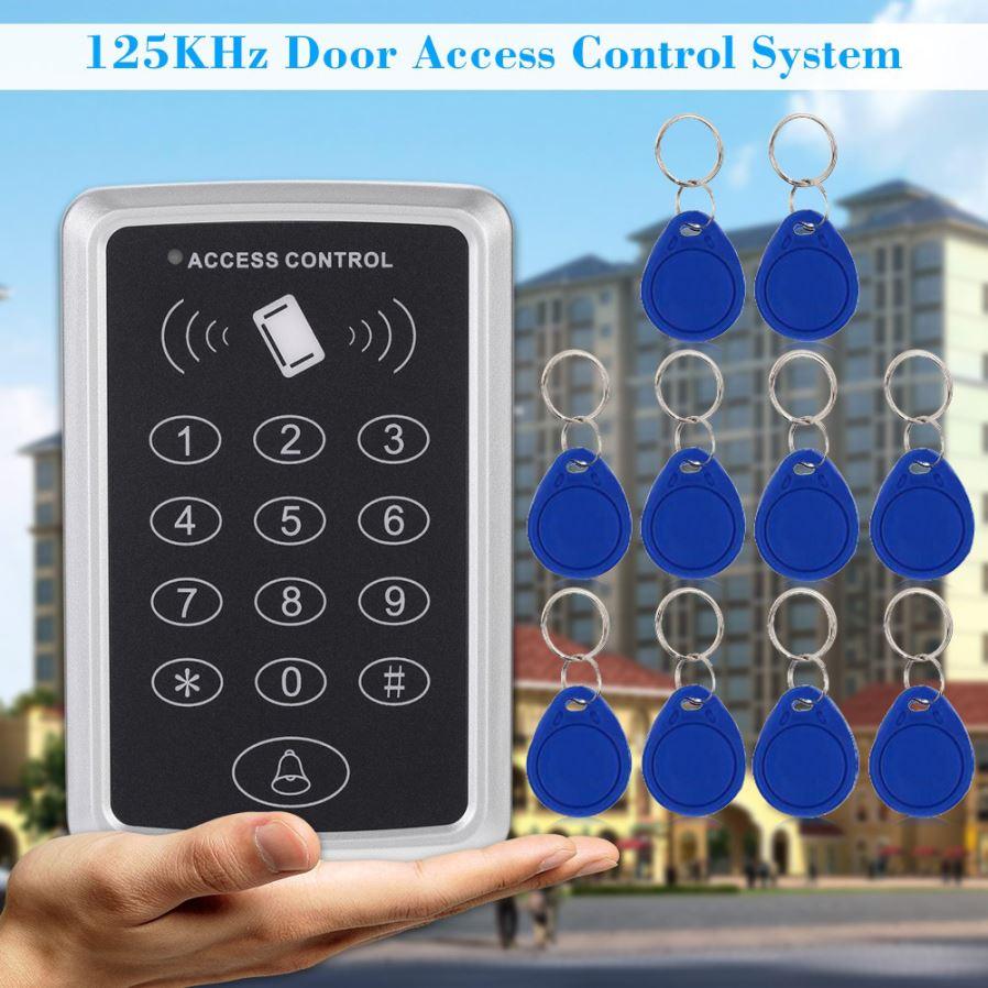 IP68 125KHZ ID Keypad Single Door Access Control+Wiegand 26 bit+10pcs RFID Cards