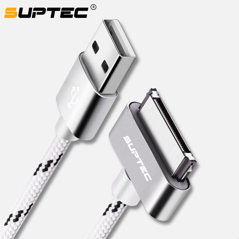 SUPTEC USB Cable Fast Charging for iPhone 4 4s 3GS 3G iPad 1 2 3 iPod Nano touch 30 Pin Original Charger Adapter Data Sync Cord(China)