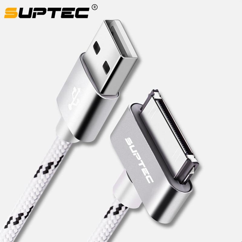 Suptec cabo usb de carregamento rápido para iphone 4 4S 3gs 3g ipad 1 2 3 ipod nano toque 30 pinos adaptador carregador original cabo sincronização dados