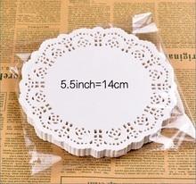 5.5″ Inch Round White Paper Lace Doilies Cake Wedding Decoration 100pcs
