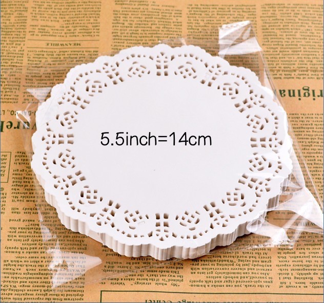 5.5″ Inch Round White Paper Lace Doilies Cake Wedding Decoration 100pcs