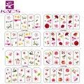 Sistema de desarrollo de CONOCIMIENTOS BOP200-203 Flores Coloridas y Hermosas Aves Diseño Etiqueta Engomada Del Clavo de Transferencia de Agua Pura y Fresca Para El Arte Del Clavo Etiqueta
