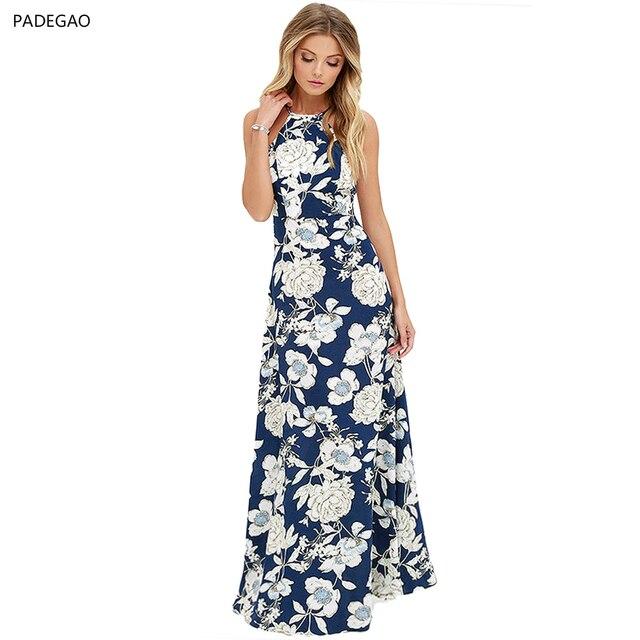 c030d5fac Vestido Mulheres 2017 Fino Sem Mangas Para Trás com Um Vestido Longo de  Poliéster Material de