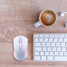 Laptop wireless mouse compact office computer peripheral mouse bluetooth mouse pink mice mouse wireless for mac dostyle md208 2 4g wireless mouse silver