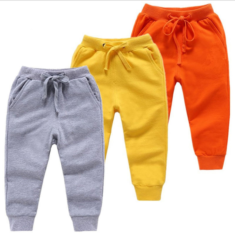 Kids Autumn Spring Clothes Girls Pants Children Trousers For Baby Boys Harem Pants Solid Colors  Black Grey Blue Red