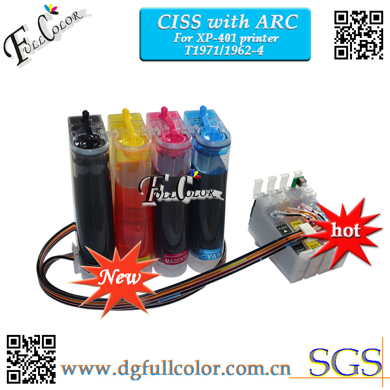10 Set A Lot For Xp401 Ciss Ink System With ARC CHIP For Epson Expression Xp