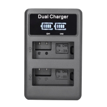 Lp-E8 Camera Battery Charger Lp E8 Lcd Intelligent Display Dual Usb For Canon Eos 550D 600D 650D 700D X4 X5 X6