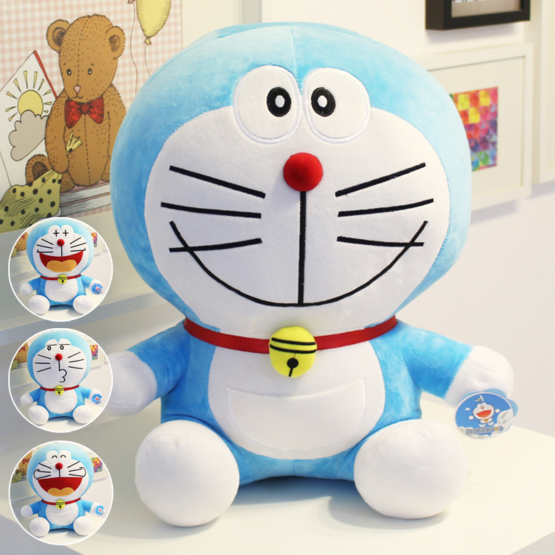 Hot Anime 25cm Stand By Me Doraemon Plush Toys CuteCat doll Soft Stuffed Animals Pillow Baby Toy For Kids Gifts Doraemon Figure japanese anime figures doraemon 5pcs set car decoration japan comics doraemon garage kits doll toy