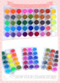 Бесплатная Доставка Профессиональный 45 цветов блеск ногтей Акриловая Пудра Для Nail Art Красоте Салон Украшения 3D Советы Оптовая