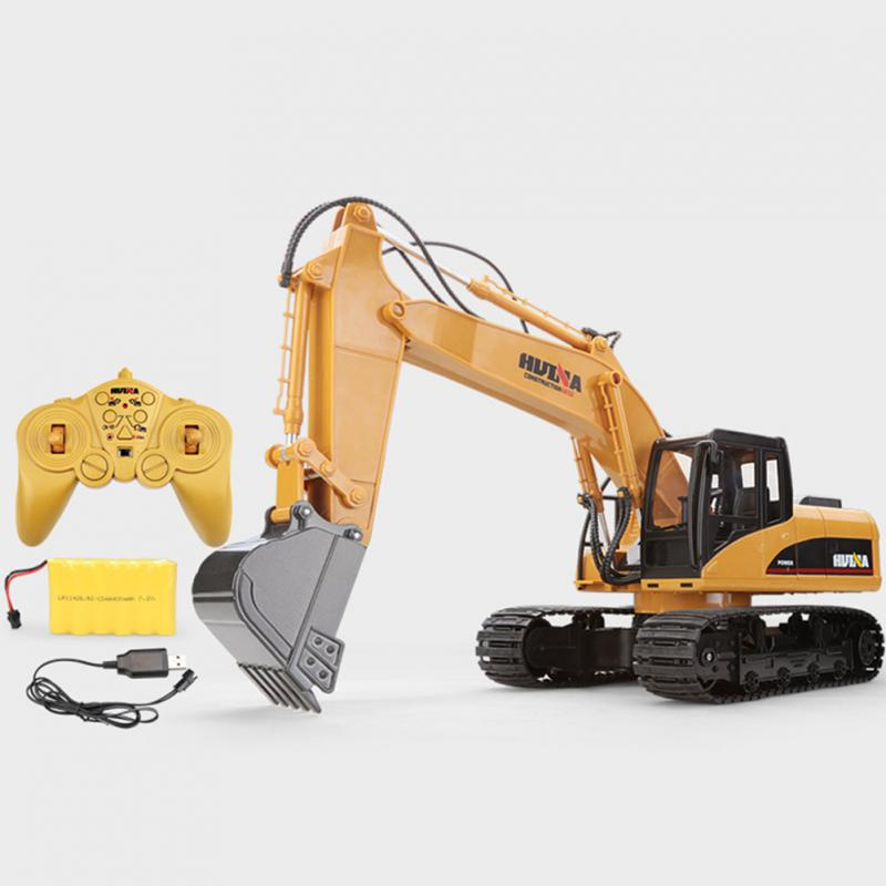 NEW 15 Channel 2.4G 1/14 RC Metal Excavator Charging RC Car