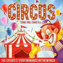 Laeacco Baby Party Cartoon Circus Tent Clown Photography Backgrounds Digital Customized Photographic Backdrops For Photo Studio