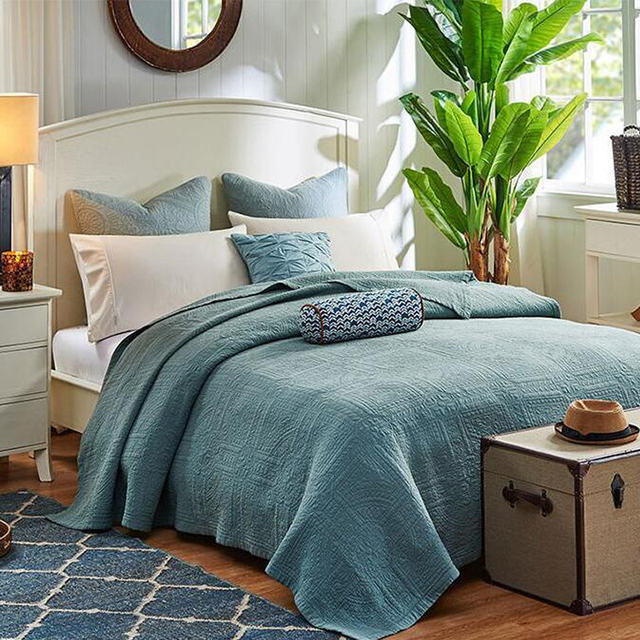 MILAIYA Stone Wash Quilted Quilt Summer Stitched Quilts Matelasse Coverlet  Korea Super Soft Bed Spread Linen