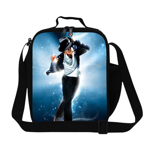 1e6dce10adf0 Fashion Michael Jackson Lunch Bags For Kids Thermal Food Bag MJ Rock Small  Lunch Box For Working Lancheira Picnic Bag