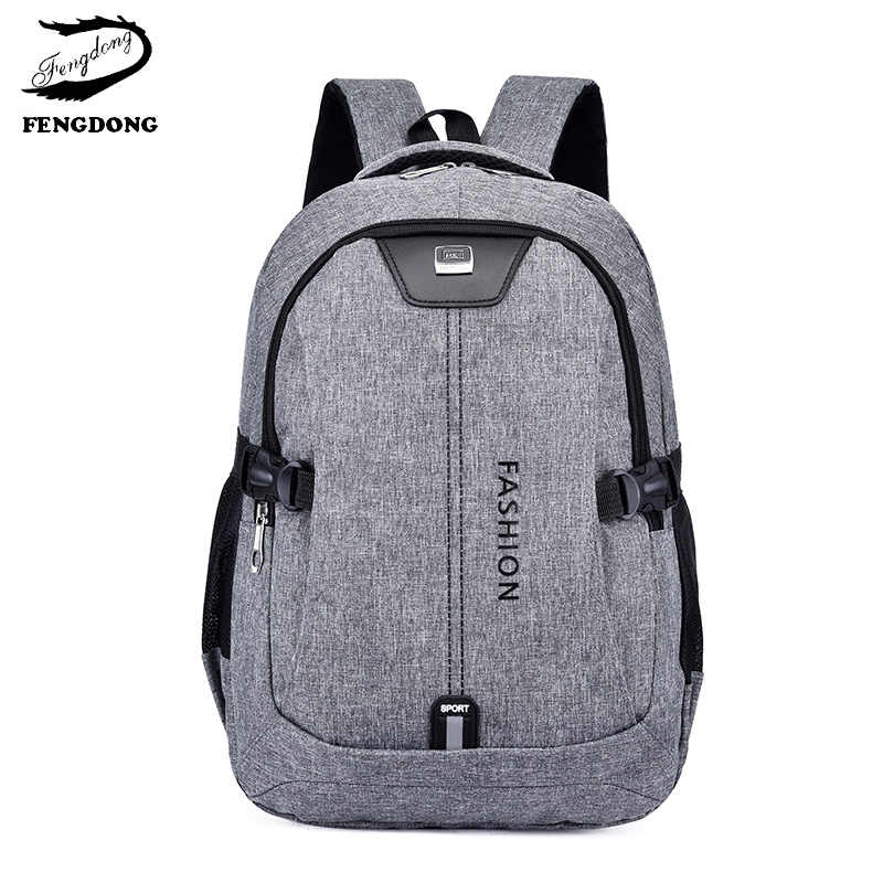 b70b9afd67c4 15,6 дюймов ноутбук для мужчин рюкзак для мальчиков брезентовые школьные  рюкзаки детская сумка подростков