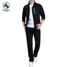 Поле База мужские брендовые комплекты костюмы Наборы для ухода за кожей куртка и Брюки для девочек спортивные костюм Фитнес Костюмы для молодых костюмы человек одежда M ~ 3XL