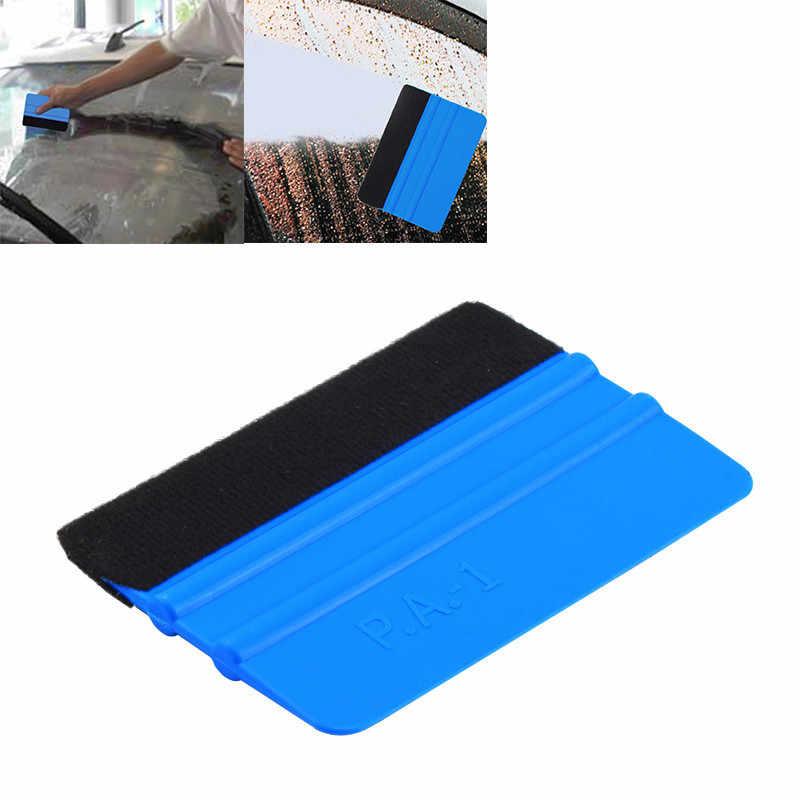 99 x 72mm Blue Portable Felt Edge Squeegee Car Vinyl Wrap Application Tool Scraper Decal Auto Car Cleaning Car Brush Accessories