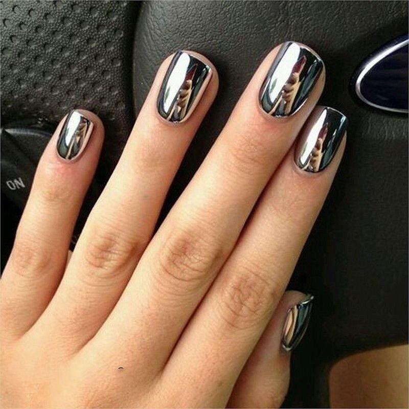 El esmalte de uñas individual No en la tienda 2Pcs Efecto de espejo - Arte de uñas - foto 6
