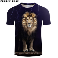 Lion 3D Animal tshirts Men t shirt Casual t-shirt Funny Tee Summer Top Short Sleeve Camiseta Streatwear 2018 DropShip ZOOTOPBEAR