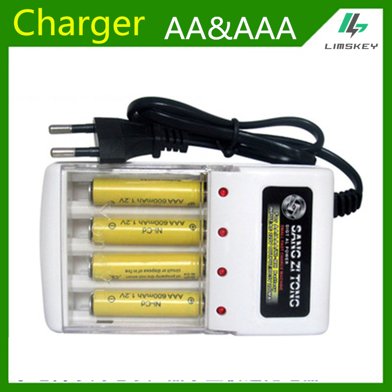 <font><b>1.2v</b></font> <font><b>AA</b></font> AAA <font><b>Battery</b></font> Charger <font><b>Battery</b></font> four slot <font><b>AA</b></font> and AAA <font><b>NiCd</b></font> and Ni MH <font><b>battery</b></font> Charging Seat 220V 50/60HZ AC Input image