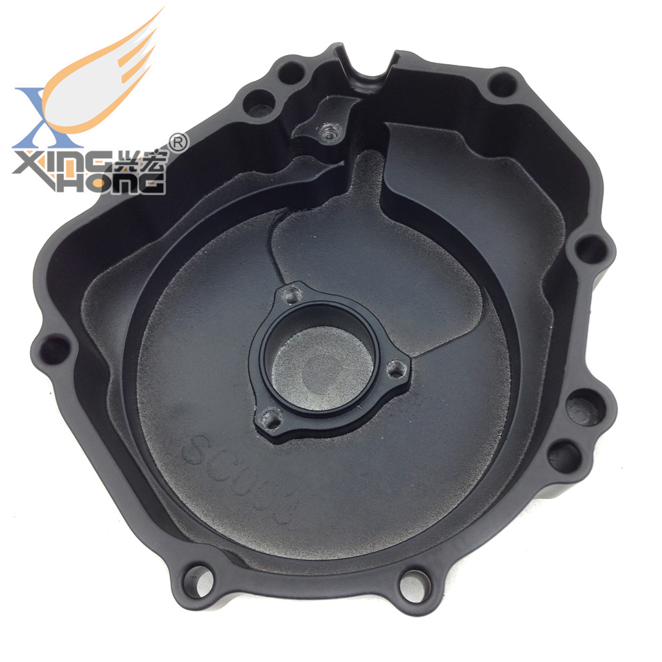 Aftermarket free shipping motorcycle parts  Engine Stator cover  for Suzuki 2004 GSXR600 750 GSXR1000 left side Black 02023 clutch bell double gears 19t 24t for rc hsp 1 10th 4wd on road off road car truck silver