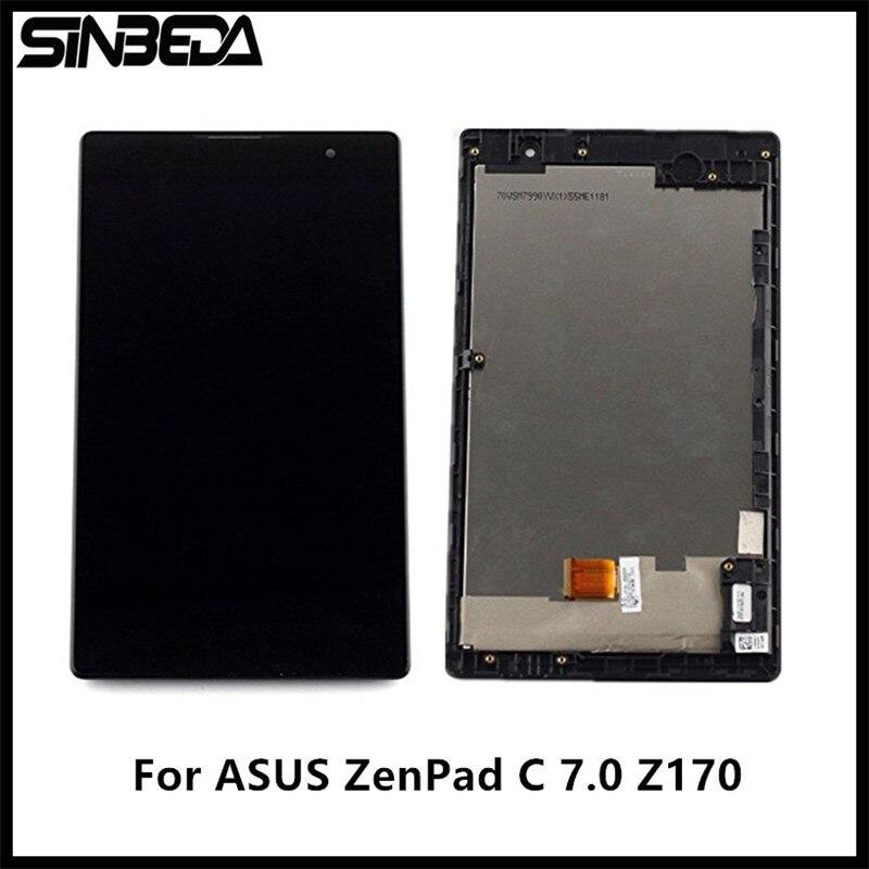 Sinbeda 7.0 LCD Écran D'affichage Pour Asus ZenPad C 7.0 Z170 Z170CG Z170MG Écran Tactile Digitizer Assemblée avec Cadre