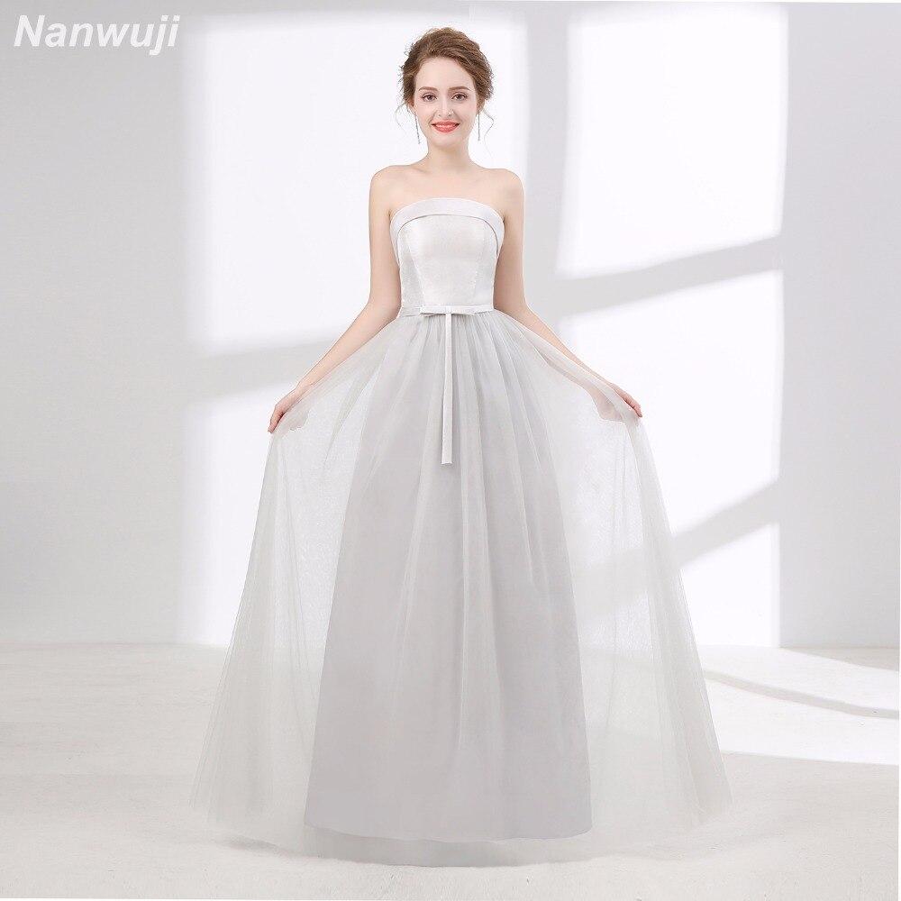 Real Photo Scoop Grey Tull Evening dress Simple New Banquet Elegant Satin Dress