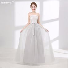 Real Photo Scoop Grey Tull Evening dress Simple New Banquet Elegant Satin Dress