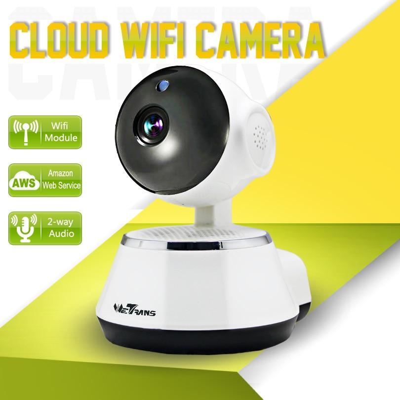 Wetrans IP Camera Wifi Smart Home Surveillance HD Wireless Baby Monitor 10m IR Night Vision P2P Audio Wifi Security Camera 720P 720p hd wifi camera night vision p2p ip camera 1 0mp waterproof ir cuts surveillance camere for home security